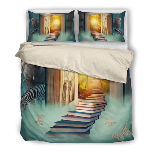 World in the books-bedding set