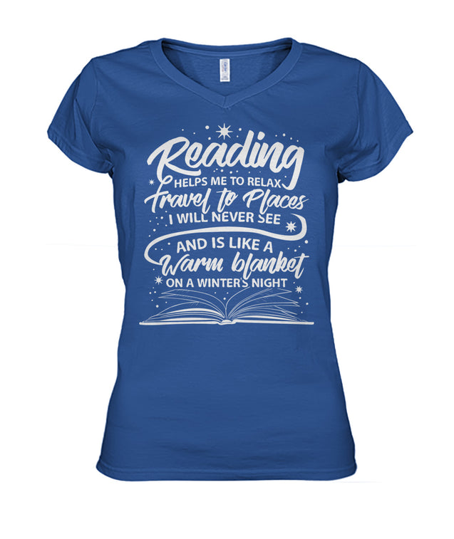 Reading helps me to relax, travel to places I will never see and is like a warm blanket on a winter's night.