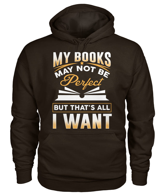 My books may not be perfect, but that's all I want.