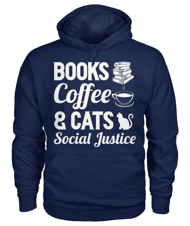 Books, coffee and cats. Social justice
