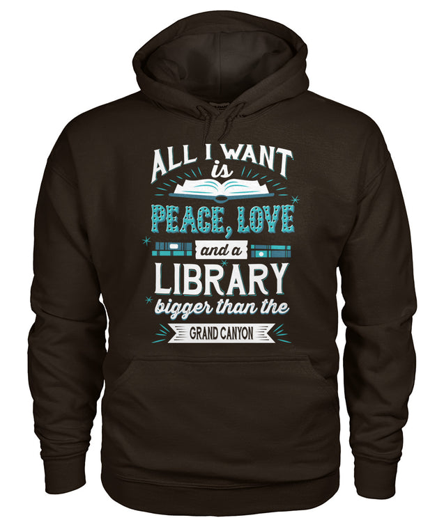 All I want is peace, love and a library