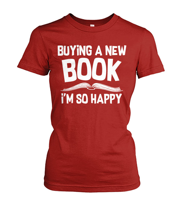 Buying a new book. I'm so happy