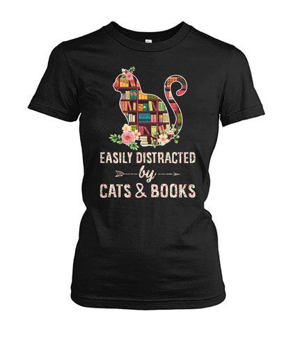 Easily distracted by cats and books