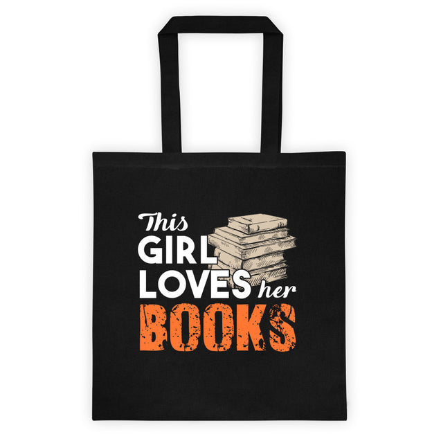 Tote bag This girl loves her books