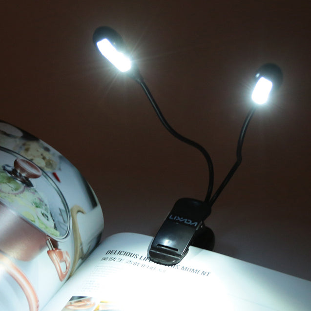 8 LED Book Reading Table Lamp Super Bright