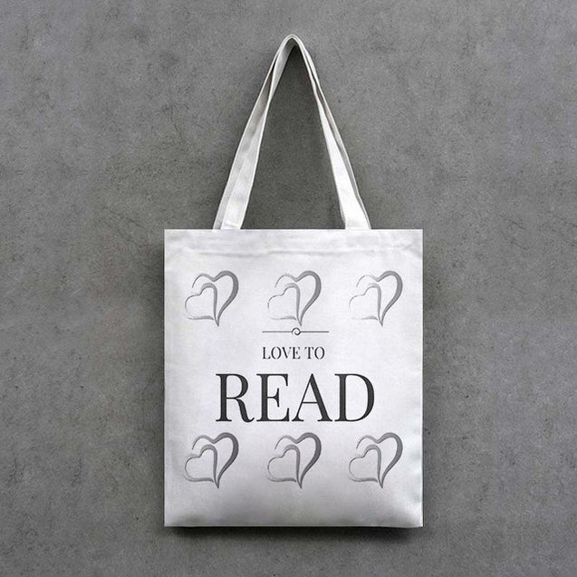 Canvas Bag Tote Storage Bags Convenience Shoulder Handbags I Love Books Pillowcase Reading  Linen Cushion Cover Printed 1PCS/Lot
