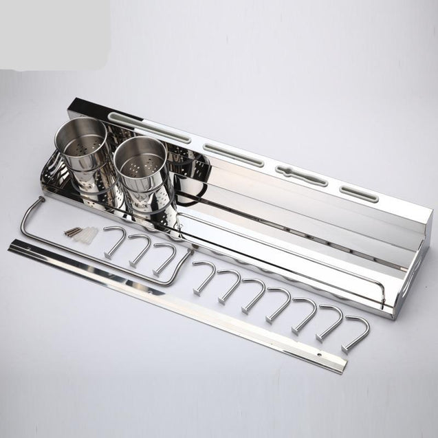 Stainless Steel Kitchen Shelf Seasoning Rack Kitchen Wall Hanging