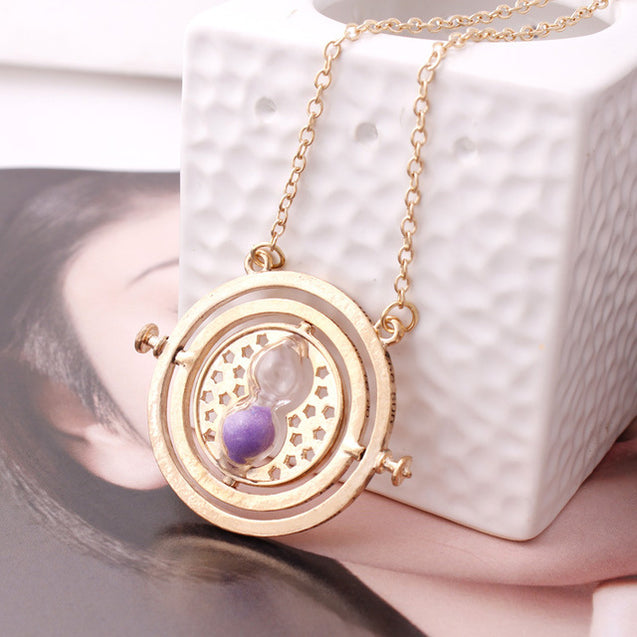 Harry Potter Time Converter Hourglass Pendant Necklace