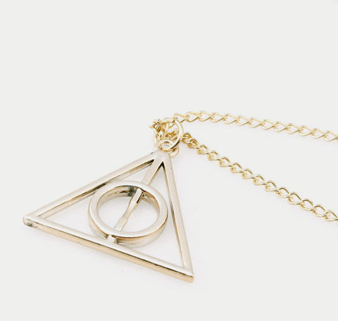 Harry Potter Luna and the Deathly Hallows Pendant  Necklace