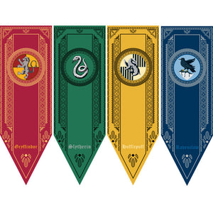 Harry Potter Party Supplies College Flag Banners
