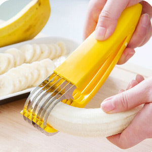 Stainless Steel Banana Slicer Fruit Vegetable Cutter Cucumber Chopper Slicer