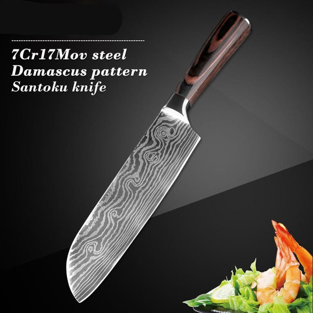 5PCS Kitchen Knife Set Stainless Steel Blades Chef Utility Paring Cooking Tools
