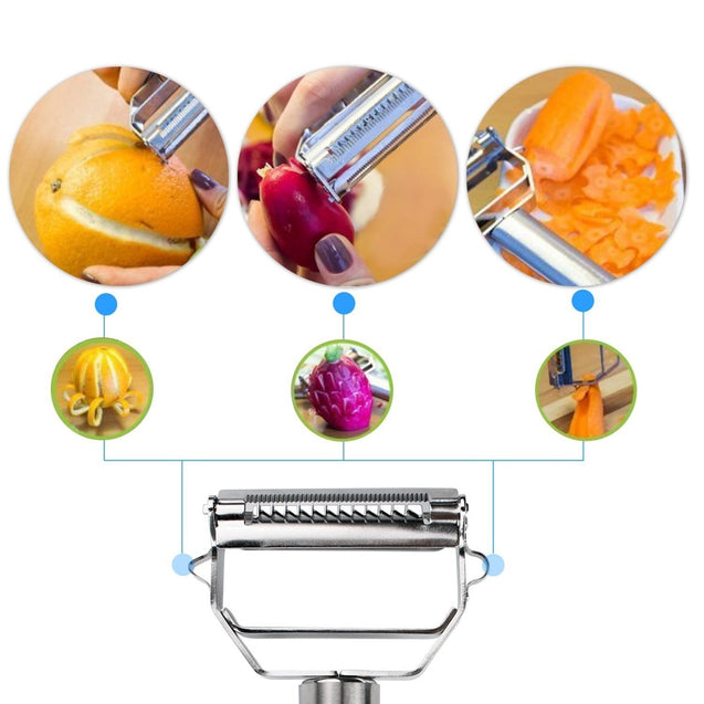 Multifunctional Stainless Steel Grater Potato Slicer Vegetable Cutter Gadget
