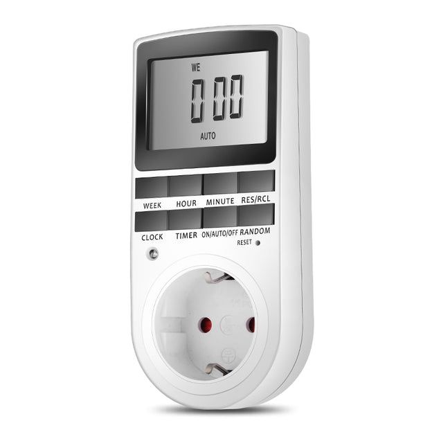 EU/US Plug Portable Plug-in Digital Timer 24h 7day Week with LCD Display