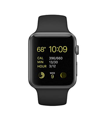 Apple Watch Series 1 Sport 42mm Space Gray Aluminum Case with Black Sport Band
