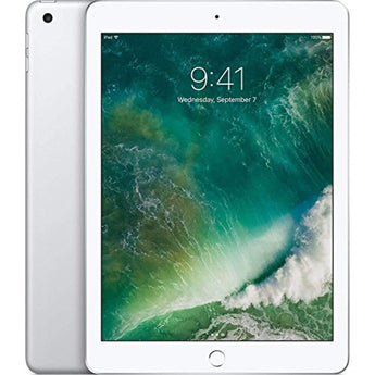 New Apple iPad A9 Chip 128GB -9.7-inch Retina Display (diagonal), A9 Chip with 64-bit Desktop-class Architecture, 8MP Camera with 1080p Video, Touch ID Fingerprint Sensor 2017 model - Silver
