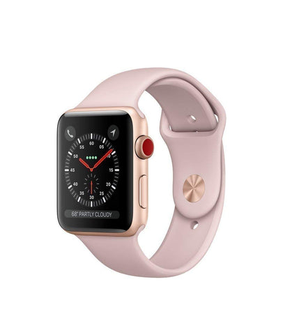 Apple Watch Series 3 42mm Smartwatch (GPS Only, Gold Aluminum Case, Pink Sand Sport Band)