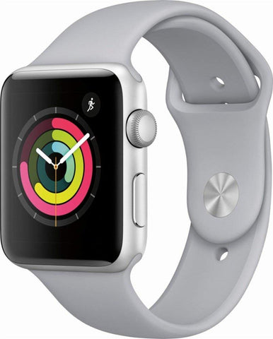 Apple Watch Series 3 (GPS), 42mm Space Gray Aluminum Case with Gray Sport Band - MR362LL/A