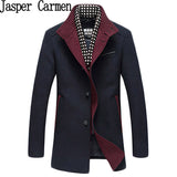 Free shipping Autumn/Winter New Arrival Men Leisure Thicker Warm Trench coat  Men  Wool Blends Fashion Jaqueta Masculinas 218hfx
