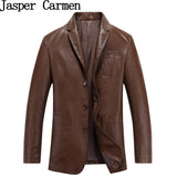 free shipping 2017 new arrival male Leather Coat Chaqueta Jaqueta Couro Masculino man's slim leather clothing Size M-3XL 258