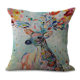 Animal Coloured Drawing Or Pattern Number Printing Cotton Pillow Originality Milu Concise Cushion Set Siesta Back Cushion