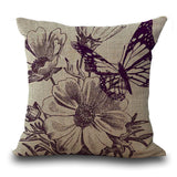 Butterfly Cotton Square Printing Embrace Pillow Case By Pillow Case A1068