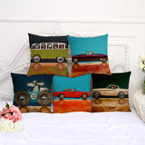 Cartoon Series Drive A Puppy Cotton Embrace Pillow Case Number Printing Bay Window Cushion Set Dorp Shipping