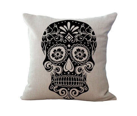 European Personality Restore Ancient Ways Human Skeleton Head Cotton Pillow By Pillow Case C1019