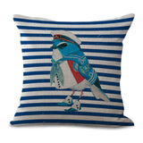 Lovely Birdie Rank-and-file Soldiers Printing Mianma Window By Pillow Case Lumbar Pad Set No Contain Pillow