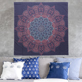 Mandala tablecloth 150CM Polyester Wall Indian Elephant Lotus Yoga Mat Home Decor Carpet toalla Dorp Shipping