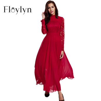 FLOYLYN Women Plus Size Sexy Maxi Long Party Lace Dresses Clothing