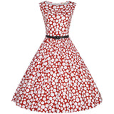 Floylyn Woman Retro Dresses Party Robe Vestidos Polka Dot Plus Size