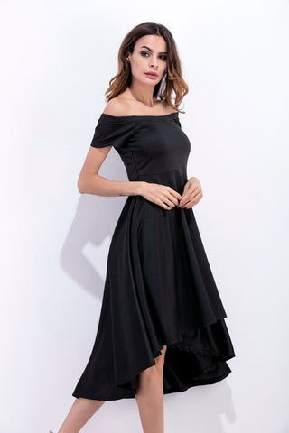 Vintage Retro Robe Short Sleeves Elegant Dress