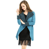 Casual Loose Fur Women Jackets 2016 Spring Fashion Long Sleeve Turn-Down Belt Jacket Women Slim Ladies Coats Jackets