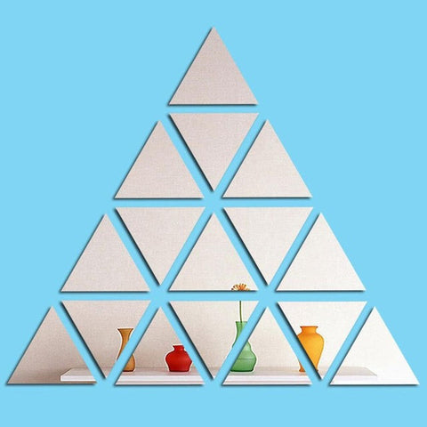 3 Colors Home Wall Stickers Fashionable Triangular Shape Living Room Bedroom DIY Art Decorative Wall Stickers for kids room