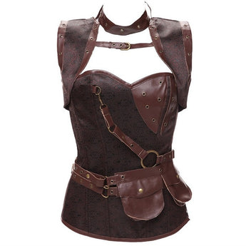 Leather Gothic Corset-collar