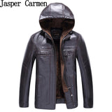 Free shipping Leather Jacket Men Fashion Brand High Quality Warm Winter  Business Casual Mens Leather Jackets Coats 120hfx