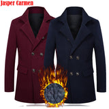 2017 New The cashmere coat men's windbreaker winter coat collar men's business casual men wool coat Z 135