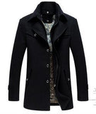 Free shipping Men Wool Blends Overcoat Fashion Casual Winter Men's Jacket Coat Brand-clothing Cashmere Outerwear 155hfx
