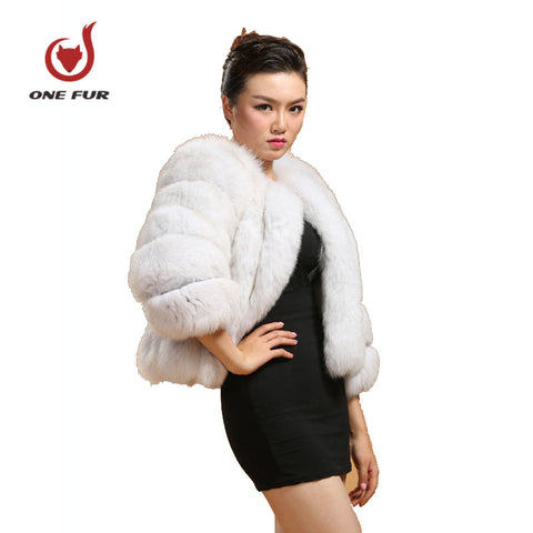 DHL Real Fox Fur Coat Whole Skin Natural Fur Overcoat Women's Fur Coats Winter Warm Clothing Fur Coat Genuine leather spliced