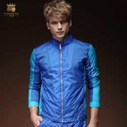 Free Shipping New fashion casual male Men's Spring long sleeved Spring summer wear thin jacket 15028 On Sale fanzhuan