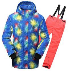 2016 HOT kids clothes set for 6-15 ages boys and girls winter ski waterproof windproof and breathable kids tracksuit free ship