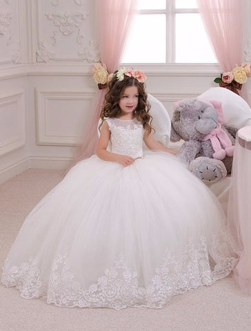 Lace New Flower Girls Dresses For Wedding Gown Ball Gown Kids Beauty ...