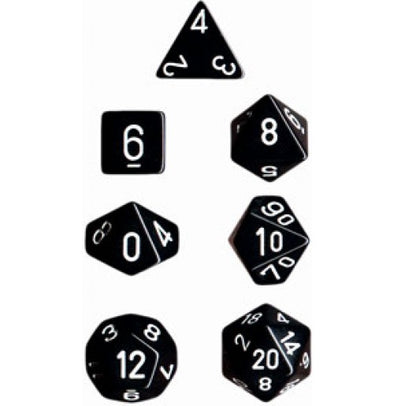 Opaque Poly 7 Set: Black/White