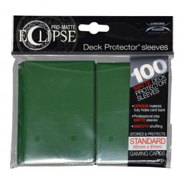 PRO-Matte Eclipse Forest Green Standard Deck Protector sleeve 100ct