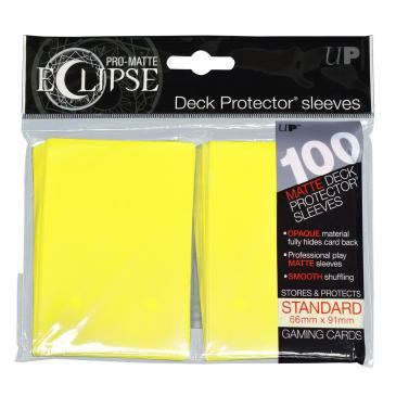 PRO-Matte Eclipse Lemon Yellow Standard Deck Protector sleeve 100ct