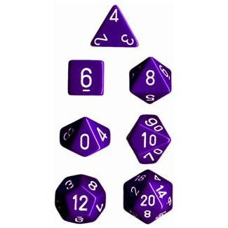 Opaque Poly 7 Set: Purple/White