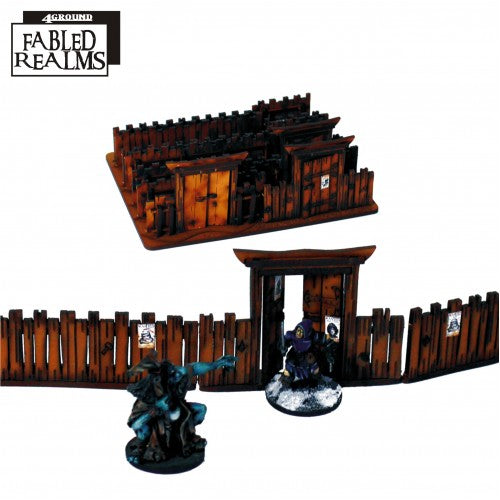 Fabled Realm Village Fencing With Gates