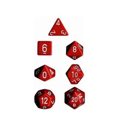 Opaque Poly 7 Set: Red/White