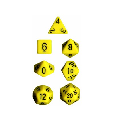 Opaque Poly 7 Set: Yellow/Black